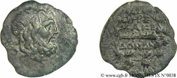 N° v09_0038 Bronze Æ 24 ou unité - c. 168-146 AC.