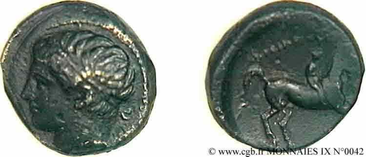 N° v09_0042 Bronze Æ 18 - c. 356-336 AC.