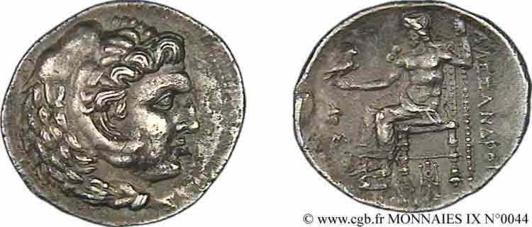 N° v09_0044 Tétradrachme - c. 325-323 AC.
