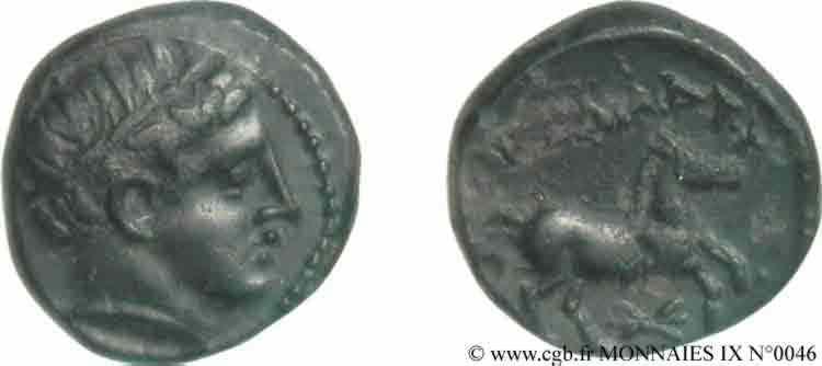 N° v09_0046 Bronze Æ 16 ou demi-unité - c. 336-323 AC.
