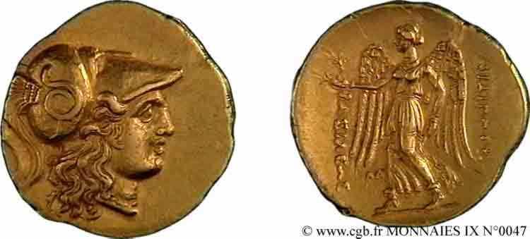 N° v09_0047 Statère d'or - c. 323-316 AC.