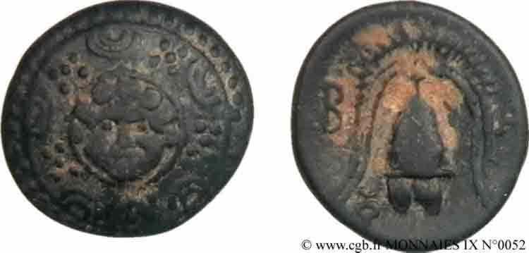 N° v09_0052 Bronze Æ 17 ou demi-unité - c. 288-277 AC.