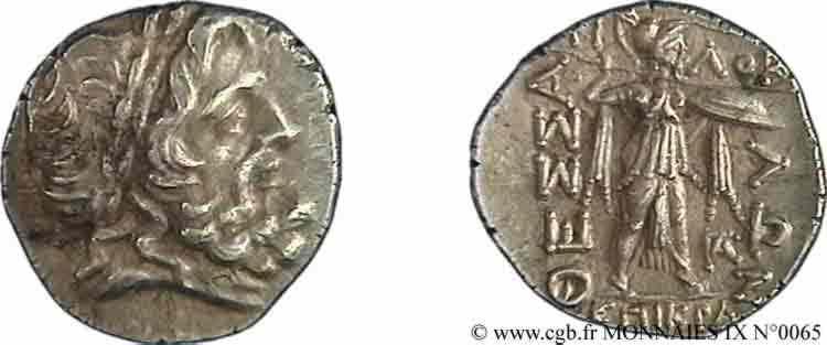 N° v09_0065 Drachme ou double victoriat - c.196-146 AC.