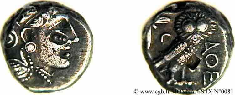N° v09_0081 Tétradrachme - c. 330 AC.