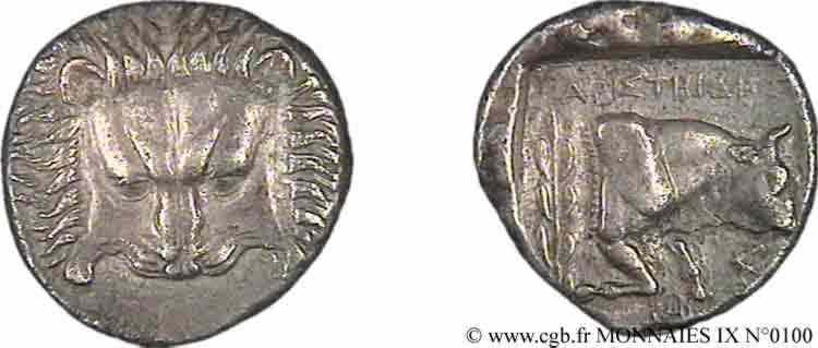 N° v09_0100 Tétradrachme - c. 387-365 AC.