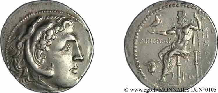 N° v09_0105 Tétradrachme - c. 201-190 AC.