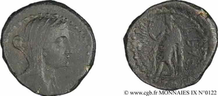 N° v09_0122 Bronze Æ 23, unité ou double unité - c. 220-150 AC.