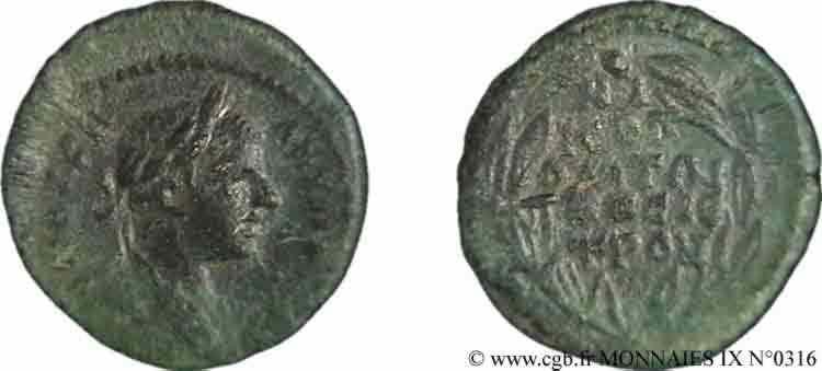 N° v09_0316 Assarion, (PB, Æ 17) - c. 218-220