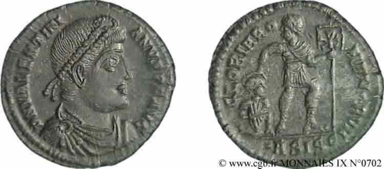 N° v09_0702 Nummus, (Æ 3) - 367-375