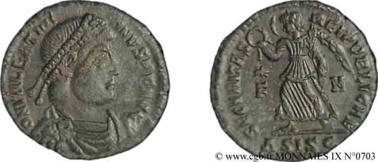 N° v09_0703 Nummus, (Æ 3) - 367-375