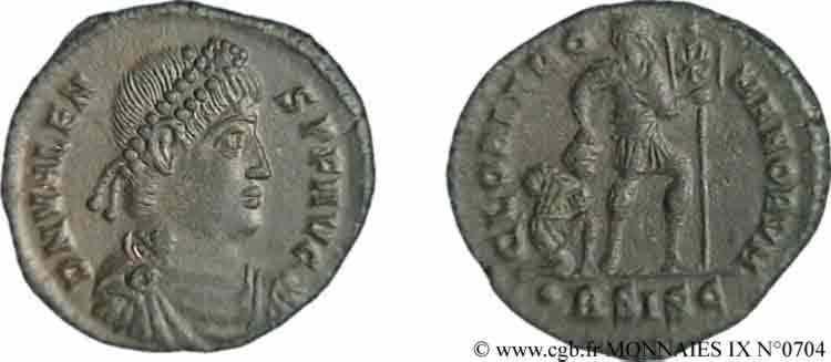 N° v09_0704 Nummus, (Æ 3) - 367-375