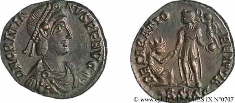 N° v09_0707 Maiorina pecunia, (Æ 2) - 378-383