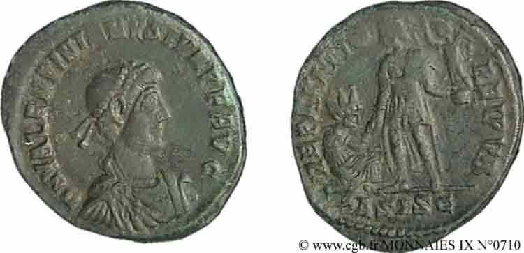 N° v09_0710 Maiorina pecunia, (Æ 2) - 378-383