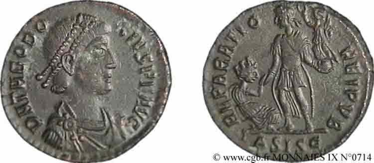 N° v09_0714 Maiorina pecunia, (Æ 2) - 379-383