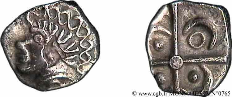 N° v09_0765 Drachme à la petite tête négroïde - c. 121-52 AC.