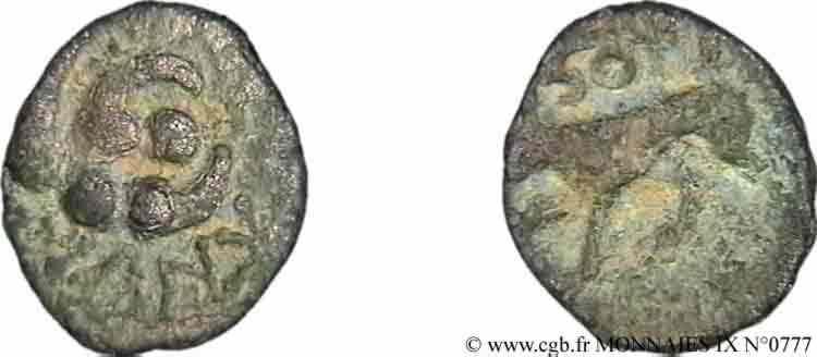 N° v09_0777 Bronze au loup, faux d'époque - c. après 56 AC.
