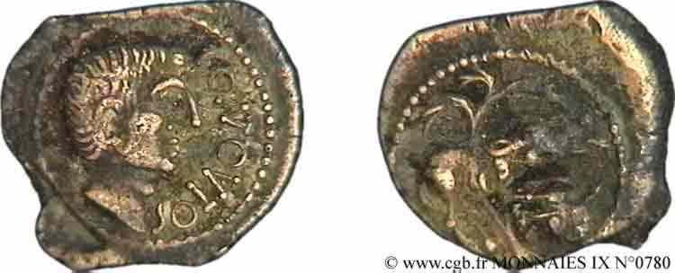 N° v09_0780 Bronze CONTOUTOS (quadrans) - c. 40 AC.