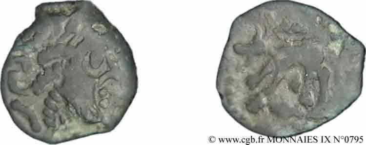 N° v09_0795 Bronze au loup, tête à droite - c. 60-40 AC.