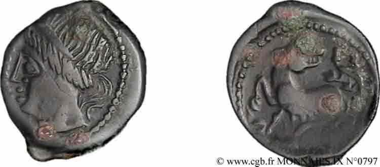 N° v09_0797 Bronze Pixtilos à la louve - c. 40-30 AC.