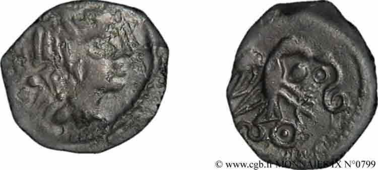 N° v09_0799 Bronze à l'aigle et au fleuron - c. avant 52 AC.