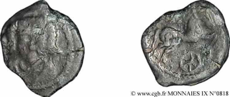 N° v09_0818 Bronze au personnage de face - c. 60-50 AC.
