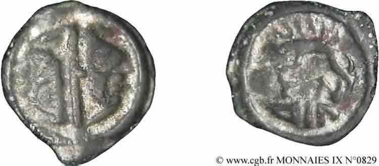 N° v09_0829 Potin OYINDIA à la tête janiforme - c. 80-50 AC.