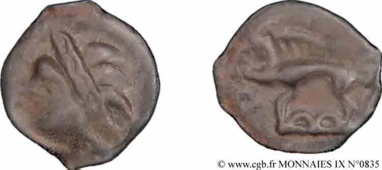 N° v09_0835 Potin à la tête d'indien - c. 75-50 AC.