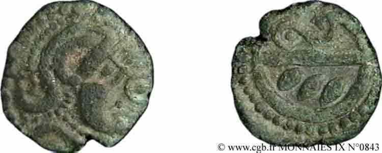 N° v09_0843 Bronze au revers divisé - c. 60-50 BC.