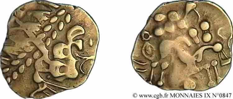 N° v09_0847 Statère d'or biface - c. 80-50 AC.