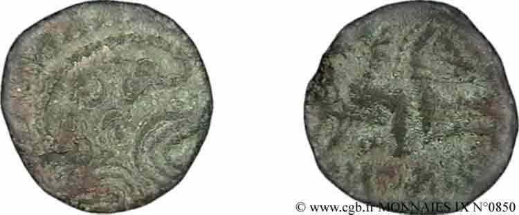 N° v09_0850 Bronze au cavalier - c. 60-50 AC.