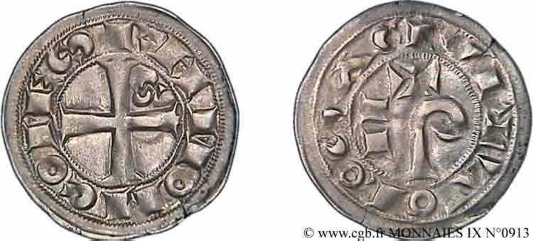 N° v09_0913 Denier ou raimondin - c. 1150-1200