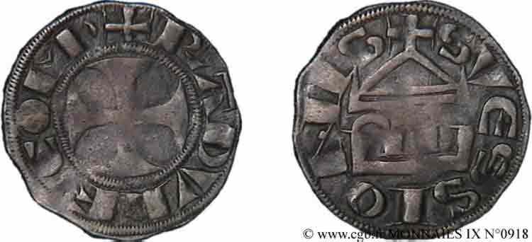 N° v09_0918 Denier - c. 1180-1223