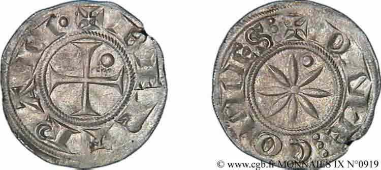N° v09_0919 Denier ou bernardin - c. 1180-1200