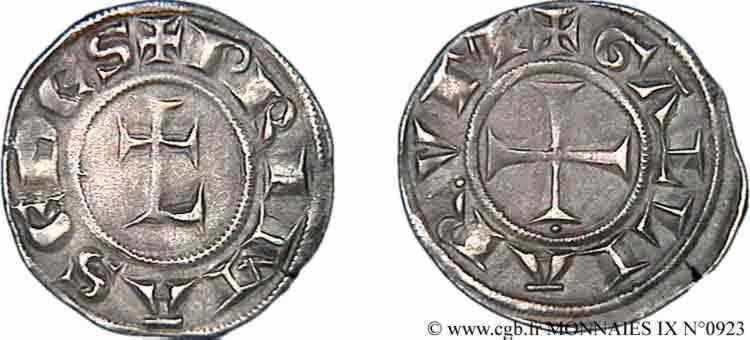 N° v09_0923 Denier fort ou double denier - c. 1220-1250
