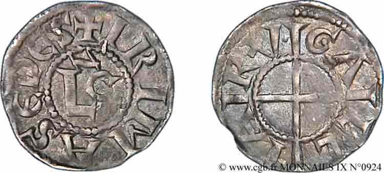 N° v09_0924 Denier fort - c.1230-1250