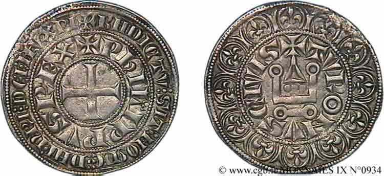N° v09_0934 Gros tournois à l'O long - c. 1290-1295
