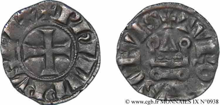 N° v09_0938 Obole tournois à l'O rond - c. 1285-1290