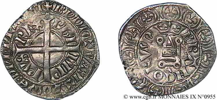 N° v09_0955 Gros à la couronne - 31/10/1338