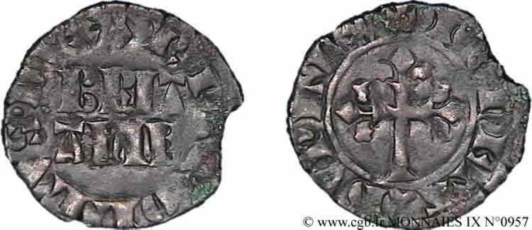 N° v09_0957 Double denier - c. 1341-1364