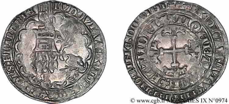N° v09_0974 Double gros ou Botdraeger - c. 1366-1384