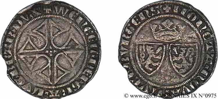 N° v09_0975 Gros ou blan-gros - c. 1383-1384