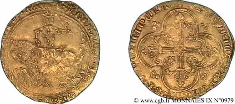 N° v09_0979 Franc à cheval - 3/09/1364