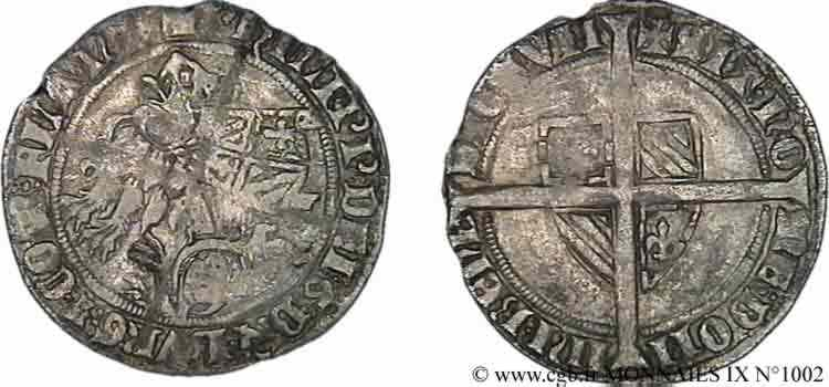 N° v09_1002 Plaque, double gros botdraeger, ou à la mante, ou à la bannière - 1/10/1388