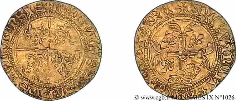 N° v09_1026 Écu d'or - c. 1445-1456