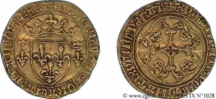 N° v09_1028 Écu d'or à la couronne ou écu neuf - 31/12/1461