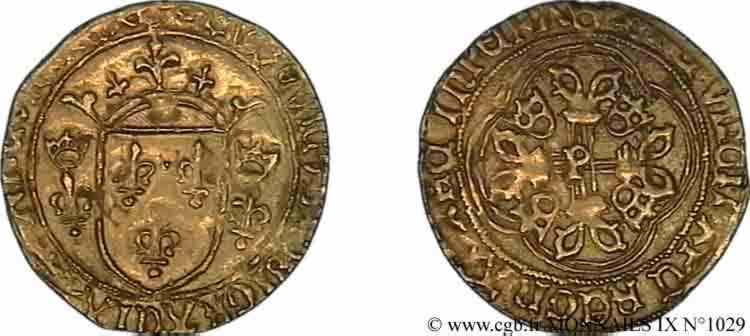 N° v09_1029 Écu d'or à la couronne ou écu neuf - 31/12/1461