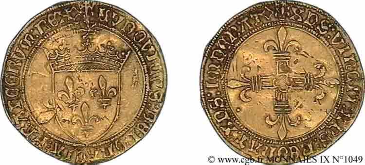 N° v09_1049 Écu d'or au soleil - 25/04/1498