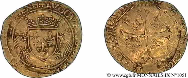 N° v09_1051 Écu d'or aux porcs-épics - 19/11/1507