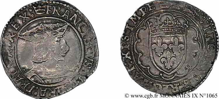 N° v09_1065 Teston, 3e type - c. 1515-1540