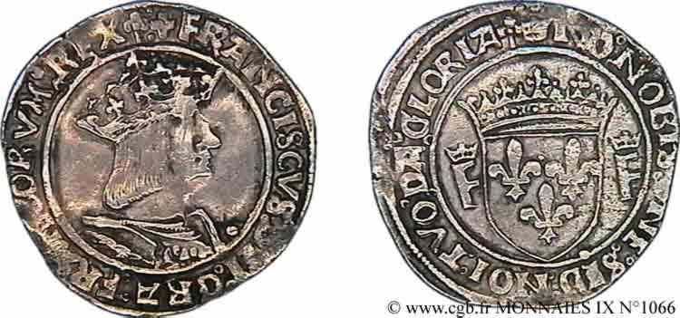 N° v09_1066 Teston, 13e type - c. 1529-1531